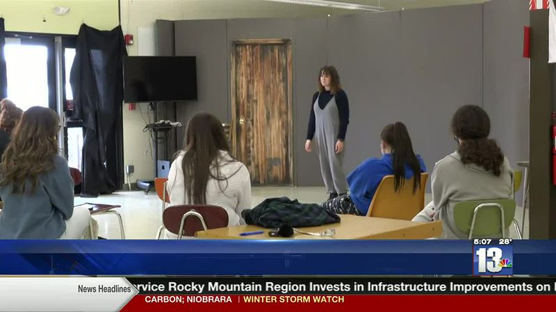 Riverton High School Speech and Debate Team practicing for virtual tournaments