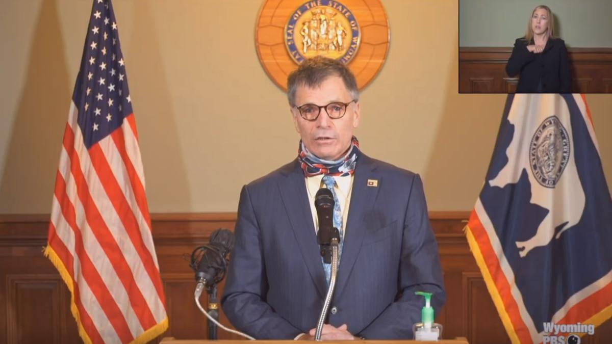 Gov. Gordon speaks at a press conference Thursday.