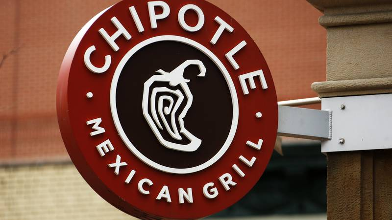 FILE - In this Jan. 12, 2017, file photo, a Chipotle restaurant sign hangs in Pittsburgh. (AP...