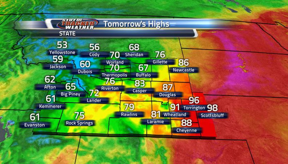 Spot the front on the map as we are seeing much cooler temperatures out the western side of the...