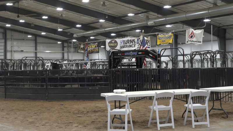 Laramie County Events Center after the LC Fair, 2021.