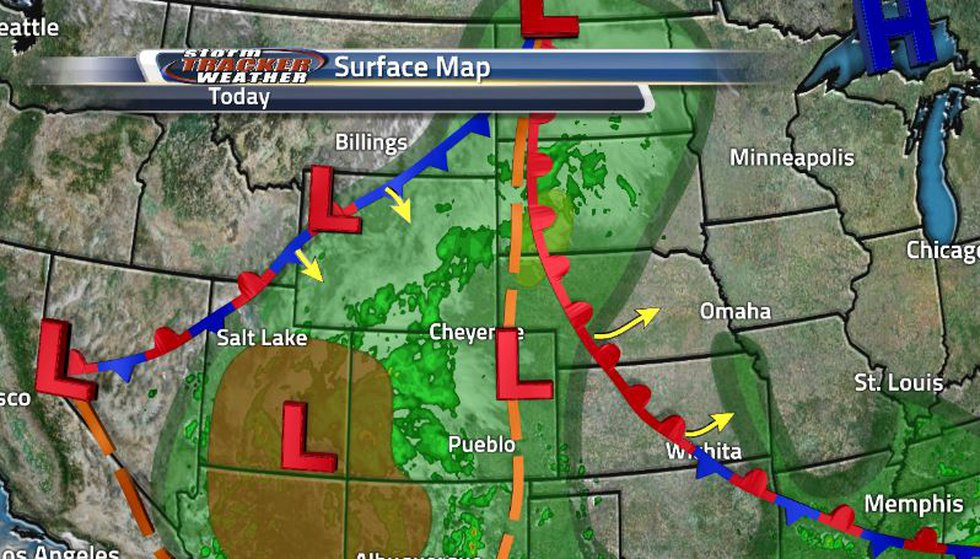 While the front is making it's way through, we can already see it starting to stall out letting...