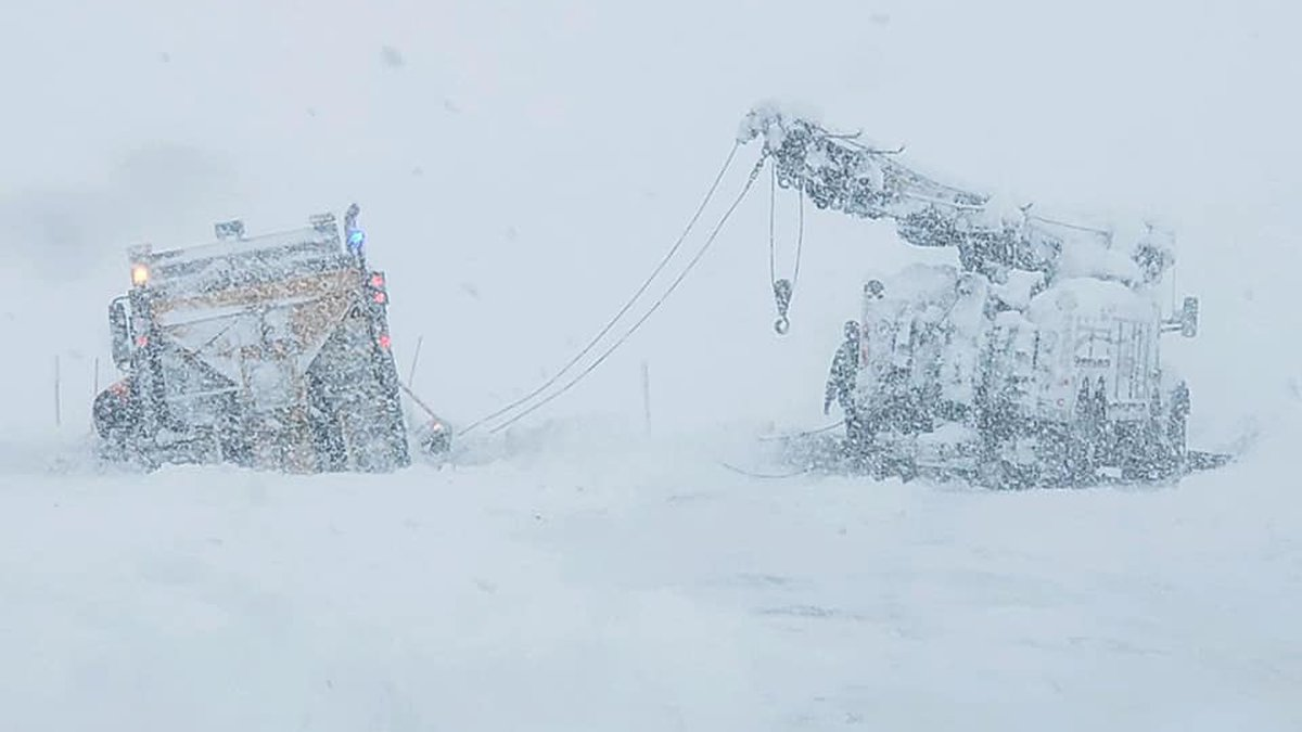 Wyoming Highway Patrol continues to respond to calls for stranded motorists during the March...