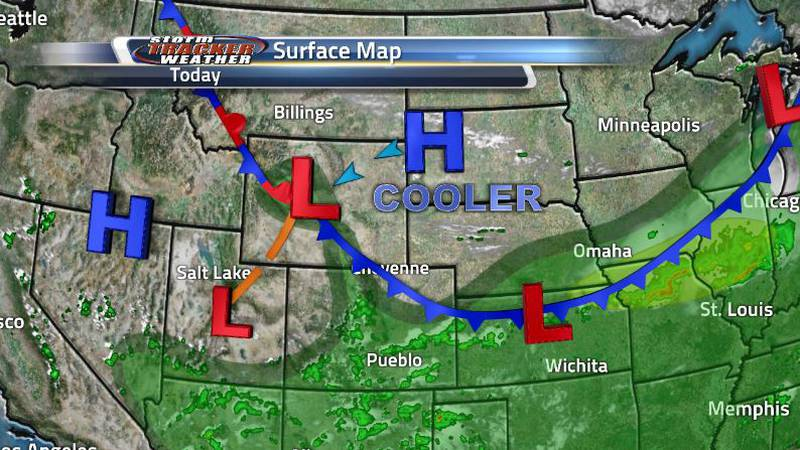 That cold front to our north moved through last night bringing us great weather conditions...