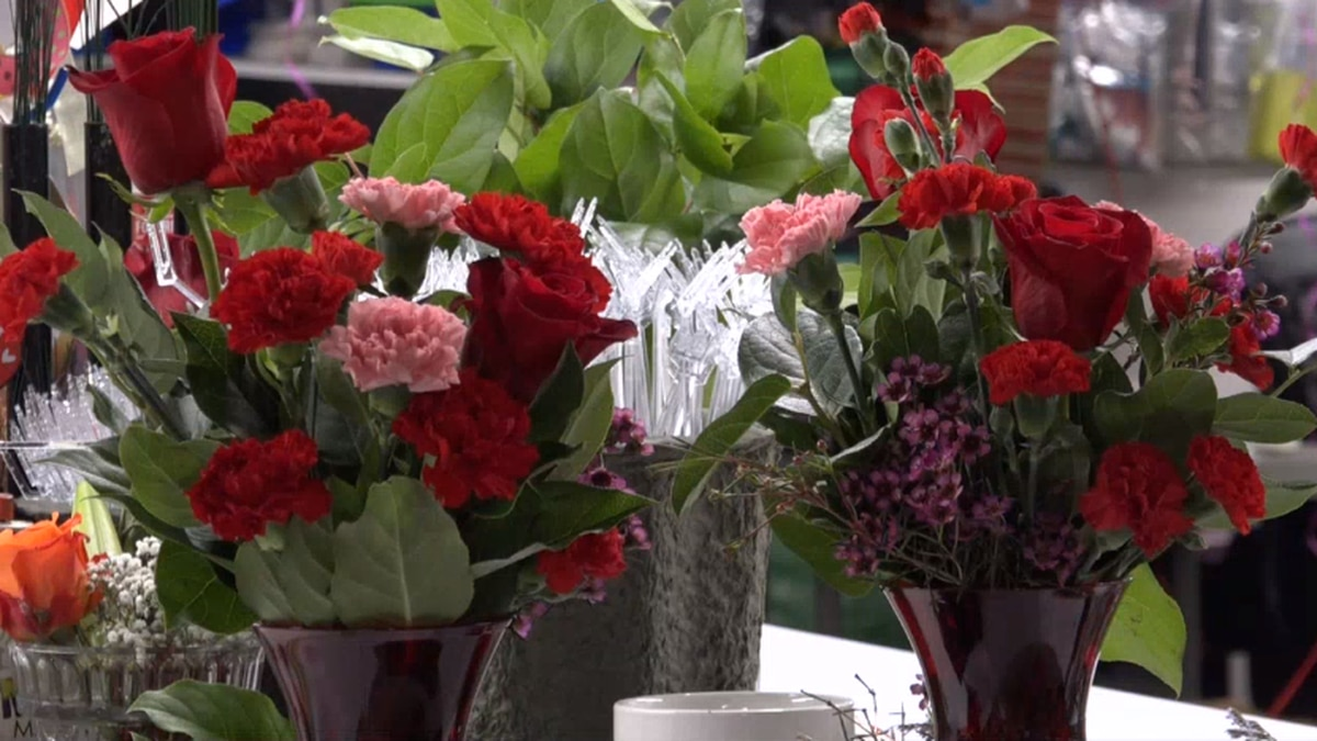 A bouquet of flowers at Keefe's Flowers.