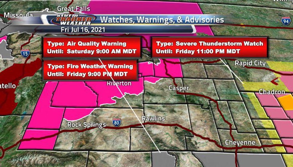 Air quality warnings expired leaving us with the fire weather warnings instead. A high heat...