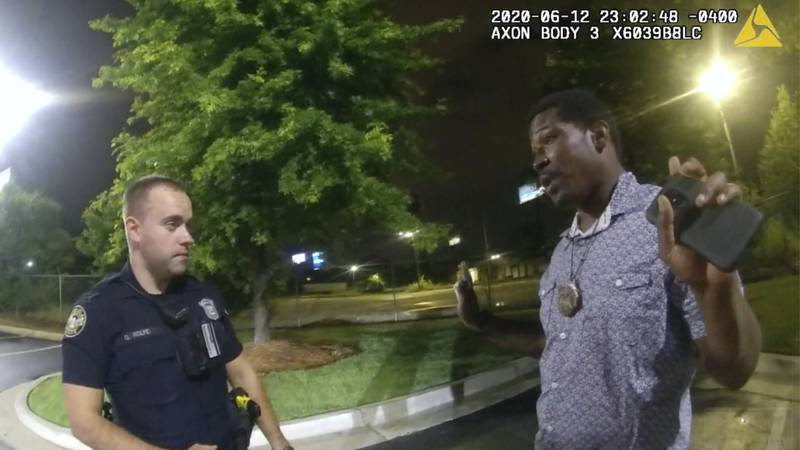 FILE - In this June 12, 2020, file photo from a screen grab taken from body camera video...