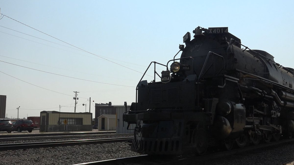 UNION PACIFIC'S NUMBER 4014, AKA THE BIG BOY, CAME CHUGGING INTO CHEYENNE TODAY AFTER...