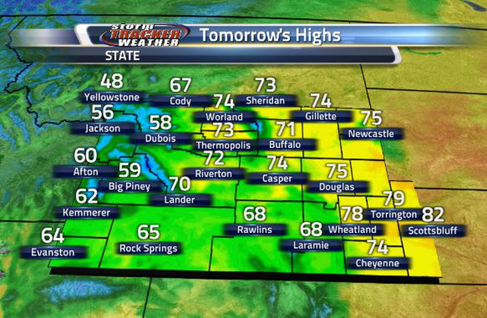 Tomorrow begins this cool down into the weekend.