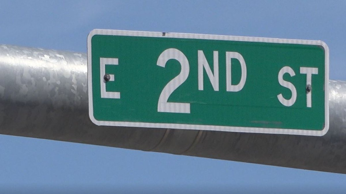 The 2nd Street sign at the intersection of 2nd and Landmark Drive in east Casper.