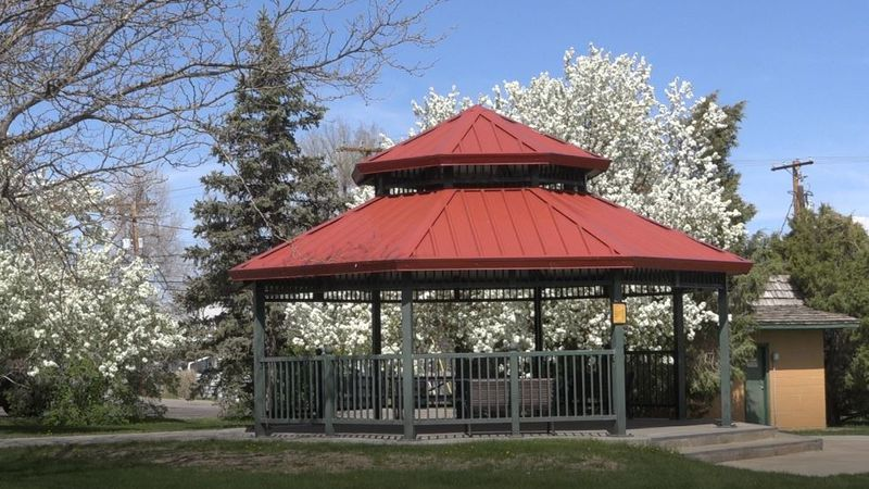 The gazebo at Conwell Park in Casper, Wyo. on May 18, 2021.
