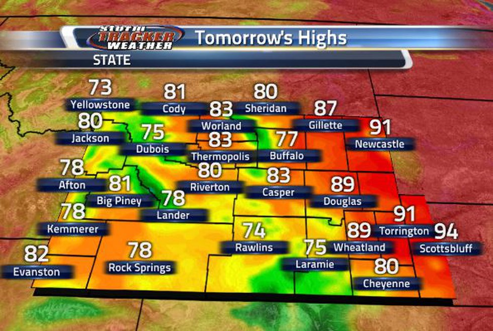 We are going to cool down one more time with help from the rain and clouds tomorrow.
