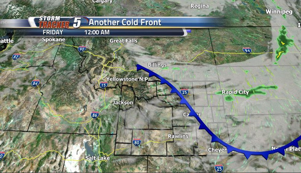 If you weren't a big fan of the last front, this one won't be that bad. Expect some clouds to...