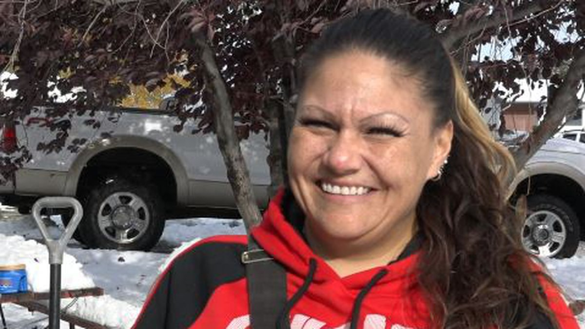 Leena Reyes offered to shovel snow for others in Casper at whatever price they chose.