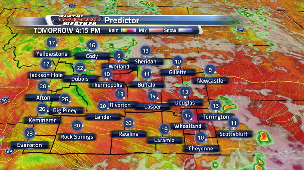 From the two battling pressure systems, expect sustained wind up to 30 MPH and gusts up to 40...