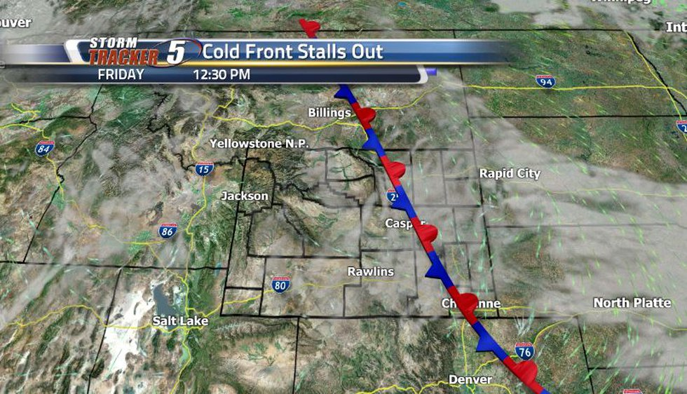With the second cold front moving through being much weaker than the previous one, we can...