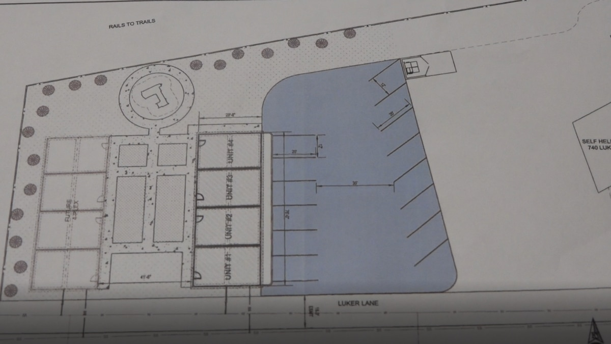 The plans for the new safe house they are hoping to open in a year
