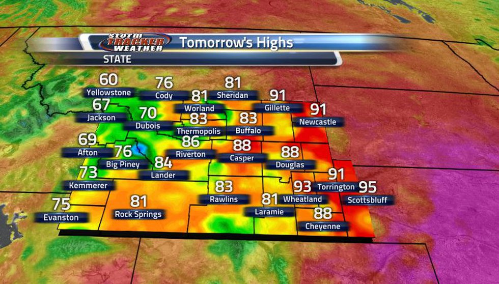 As the showers and storms begin to move through tomorrow, we can see some cooler conditions,...