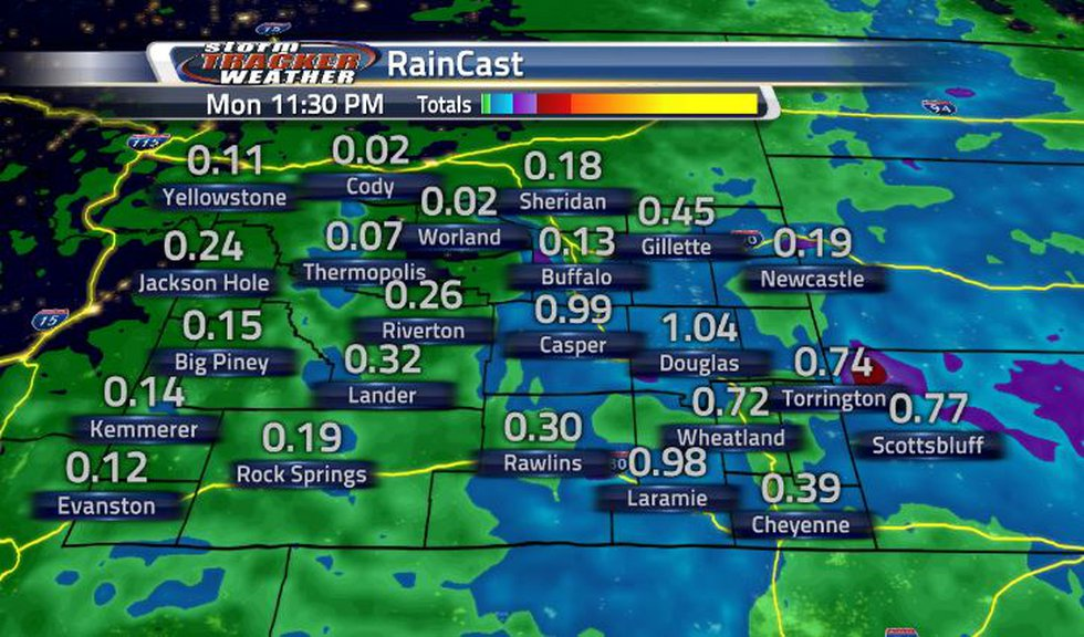 Certain areas could see close to an inch of rain. The western half of the state will barely...
