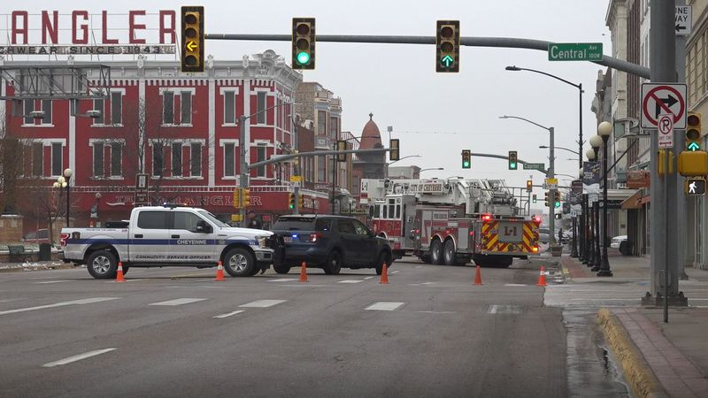 CPD, CFR and Black Hills Energy block off Lincolnway Thursday morning for a suspected gas leak.