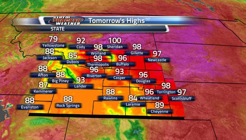 Above average temperatures are back in the state with lots of 90s in the forecast as well as...