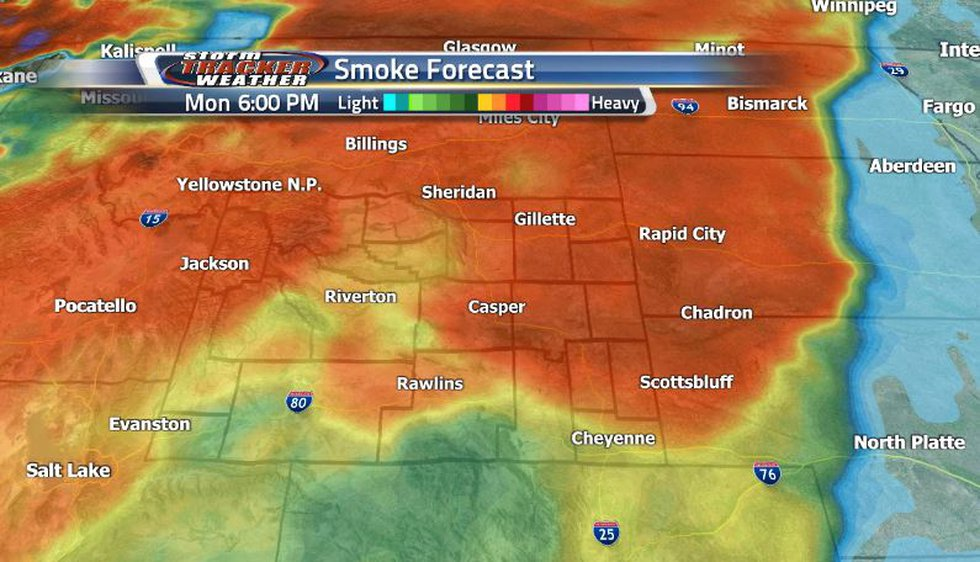 Heavy smoke looks to be back in the forecast prompting these air quality warnings to be...