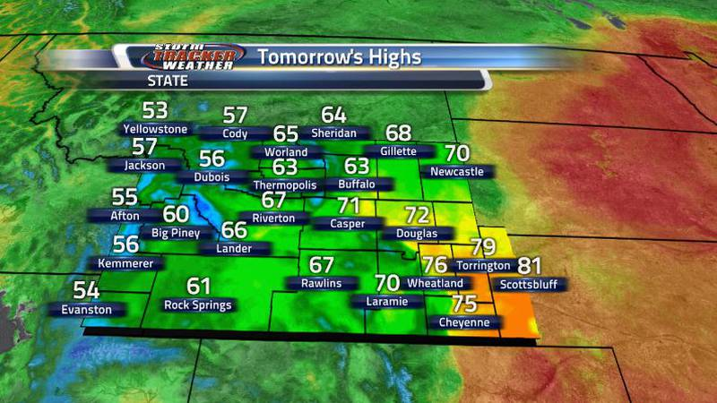 You can see on the map where the cold front moved from, but the whole state can expect to see...
