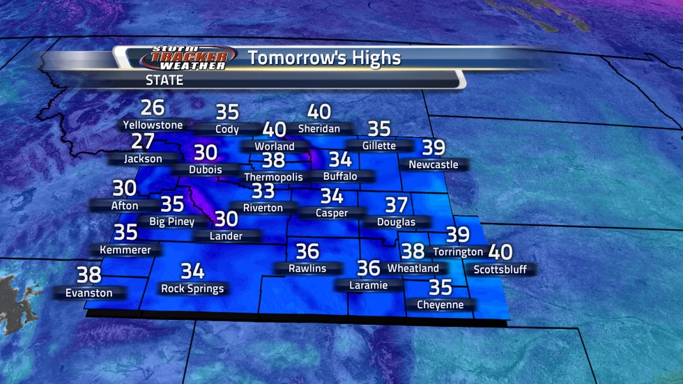 Tomorrow's High Temps