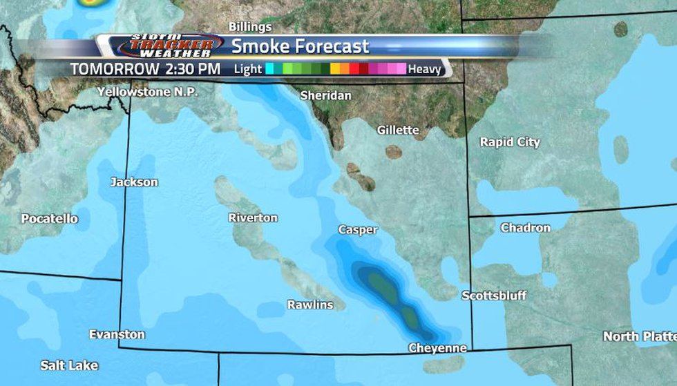 While the easterly winds are helping to keep most of the smoke at bay, we can still see some...