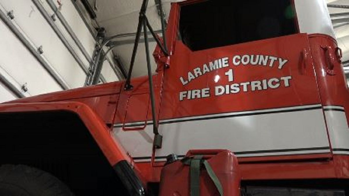 Laramie County Fire District #1 truck that will be upgraded with money from the 2019 bond election in LCFD #1's response area.