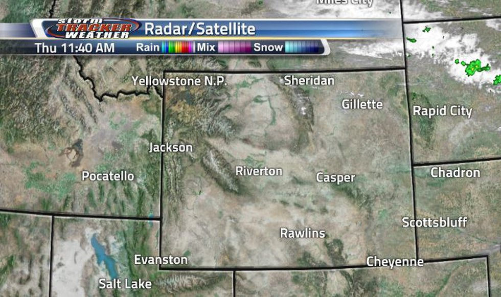 Clouds and showers occurred in the northeast corner. Light clouds are sticking around in the...