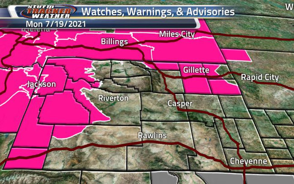 With hot temperatures and dry conditions, the Fire Weather Warnings are back and in effect...